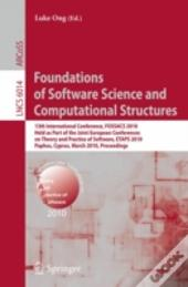 Foundations Of Software Science & Comput