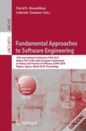 Fundamental Approaches To Software Engin