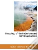 Genealogy Of The Culbertson And Culberso