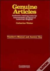 GENUINE ARTICLES TEACHER'S MANUAL WITH KEYTCHRS'