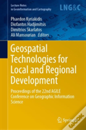 Geospatial Technologies For Local And Regional Development