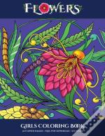 Girls Coloring Book (Flowers)