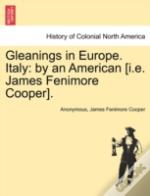 Gleanings In Europe. Italy: By An American (I.E. James Fenimore Cooper).