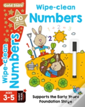 Gold Stars Wipe-Clean Numbers Ages 3-5 Early Years