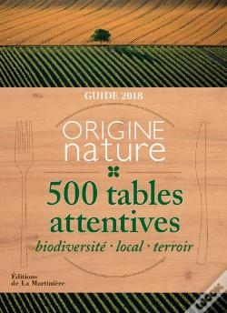 Wook.pt - Guide Origine Nature. 500 Tables Attentives