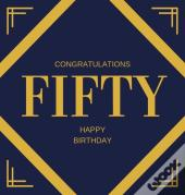 Happy 50th Birthday Guest Book (Hardcover)