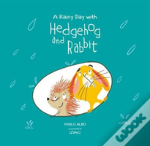 Hedgehog And Rabbit. Discover The Rain