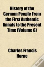 History Of The German People From The Fi