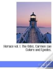 Horace Vol. 1: The Odes, Carmen Sae Cula