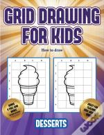 How To Draw  (Grid Drawing For Kids - Desserts)