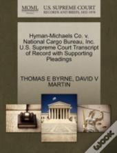 Hyman-Michaels Co. V. National Cargo Bureau, Inc. U.S. Supreme Court Transcript Of Record With Supporting Pleadings