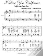 I Love You California Easy Piano Sheet Music