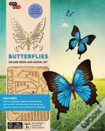 Incredibuilds: Butterflies Deluxe Book And Model Set