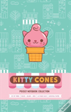 Wook.pt - Kitty Cones Pocket Notebook Collection (Set Of 3)