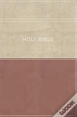 Kjv, Apply The Word Study Bible, Large Print, Imitation Leather, Pink/Cream, Red Letter Edition