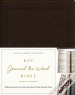 Kjv, Journal The Word Bible, Hardcover, Green Floral Cloth, Red Letter Edition