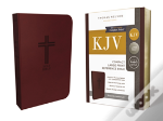 Kjv, Reference Bible, Compact, Large Print, Imitation Leather, Burgundy, Red Letter Edition