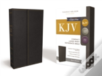 Kjv, Reference Bible, Compact, Large Print, Snapflap Leather-Look, Black, Red Letter Edition