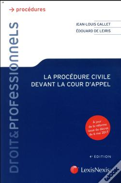 Wook.pt - La Procedure Civile Devant La Cour D'Appel