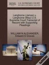 Langhorne (James) V. Langhorne (May) U.S. Supreme Court Transcript Of Record With Supporting Pleadings