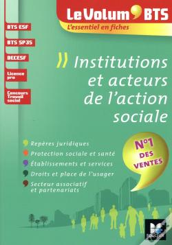 Wook.pt - Le Volum' Bts - Institutions Et Acteurs De L'Action Sociale - 4e Edition - Revision