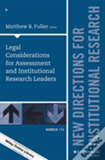 Legal Considerations For Assessment And Institutional Research Leaders, Ir 172
