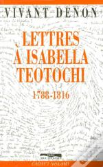 Lettres A Isabelle Teotochi