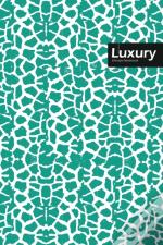 Luxury Lifestyle, Animal Print, Write-In Notebook, Dotted Lines, Wide Ruled, Medium 6 X 9 Inch, 288 Pages (Royal Blue)