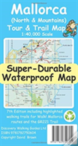 Wook.pt - Mallorca North & Mountains Tour & Trail Super-Durable Map (7th Ed)