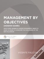 Management By Objectives - 1ª Ed.