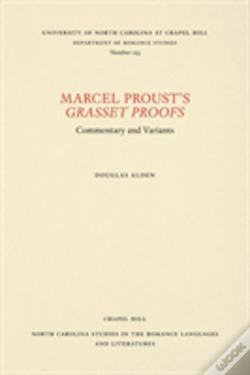 Wook.pt - Marcel Proust'S Grasset Proofs