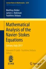 Mathematical Analysis Of The Navier-Stokes Equations