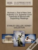 Mcinnes V. Port Of New York Authority U.S. Supreme Court Transcript Of Record With Supporting Pleadings