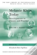 Melanie Klein Todaymainly Theory