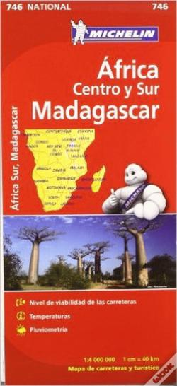 Wook.pt - Michelin Mapa Africa Centro-Sur, Madagascar