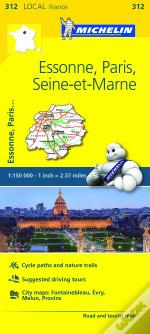 Michelin Mapa Local França: Essone, Paris, Seine-et-Marne