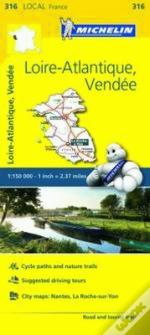 Michelin Mapa Local França: Loire-Atlantique. Vendée