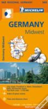 Michelin Mapa Regional Germany Midwest