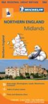 Michelin Mapa Regional Northern England, Midlands