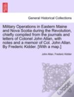 Military Operations In Eastern Maine And
