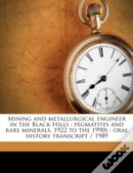 Mining And Metallurgical Engineer In The