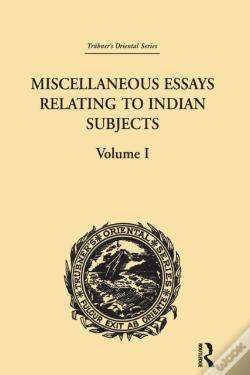 Wook.pt - Miscellaneous Essays Relating To Indian Subjects