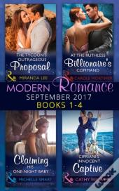 Modern Romance September 2017 Books 1 - 4 (Mills & Boon E-Book Collections)
