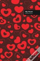 My Heart Lifestyle Journal, Blank Write-In Notebook, Dotted Lines, Wide Ruled, Size (A5) 6 X 9 In (Brown)