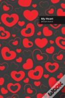 My Heart Lifestyle Journal, Blank Write-In Notebook, Dotted Lines, Wide Ruled, Size (A5) 6 X 9 In (Gray)