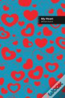 My Heart Lifestyle Journal, Blank Write-In Notebook, Dotted Lines, Wide Ruled, Size (A5) 6 X 9 In (Royal Blue)