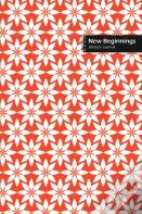 New Beginnings Lifestyle Journal, Blank Write-In Notebook, Dotted Lines, Wide Ruled, Size (A5) 6 X 9 In (Orange)