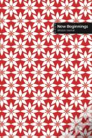 New Beginnings Lifestyle Journal, Blank Write-In Notebook, Dotted Lines, Wide Ruled, Size (A5) 6 X 9 In (Red)