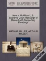 New V. Mcmillan U.S. Supreme Court Transcript Of Record With Supporting Pleadings