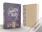 Niv, Beautiful Word Bible, Updated Edition, Peel/Stick Bible Tabs, Leathersoft Over Board, Gold/Floral, Red Letter, Comfort Print